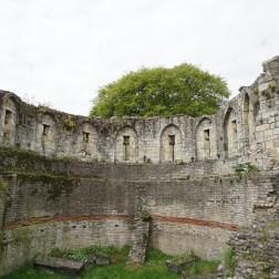 Parte medieval de la muralla York Museum Gardens