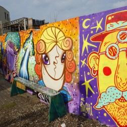 Street art en Nommadic Community Garden