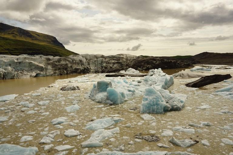 Desprendimientos del Glaciar Svínafellsjökull