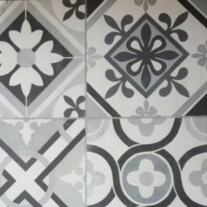 Cerámicos blanco y negro armari