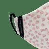 Mascarilla estampada flores rosas 4