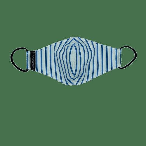 Mascarilla rayas azules y blancas 5