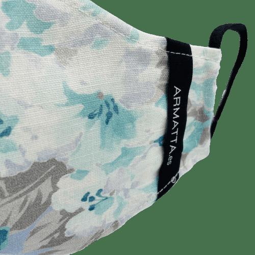 Mascarilla higienica lino floral 2