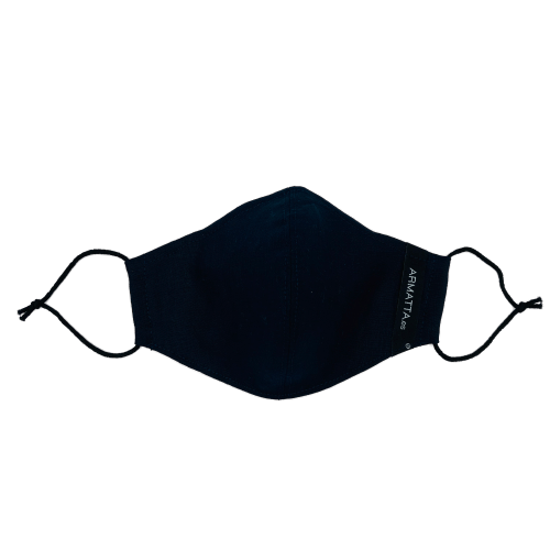 Mascarilla lino azul marino 4
