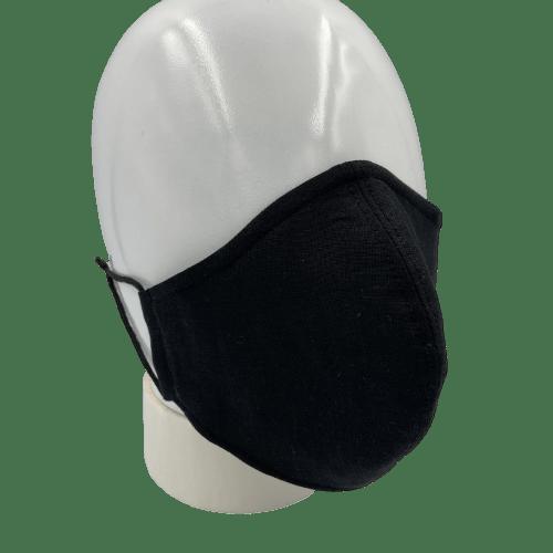 Mascarilla lino negro 1