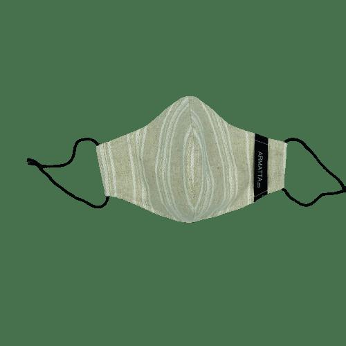 Mascarilla lino rayas con lúrex 3