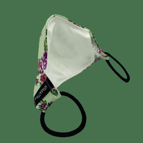 Mascarilla verde floral 5