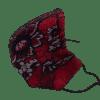 Mascarilla de satén rojo con encaje negro 2