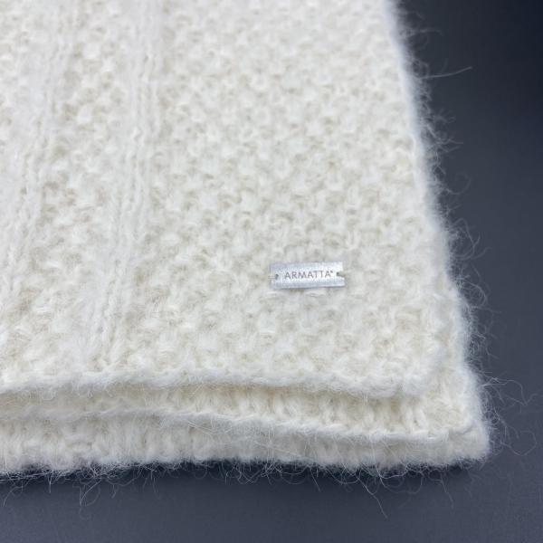 Bufanda de alpaca blanca ARMATTA 2
