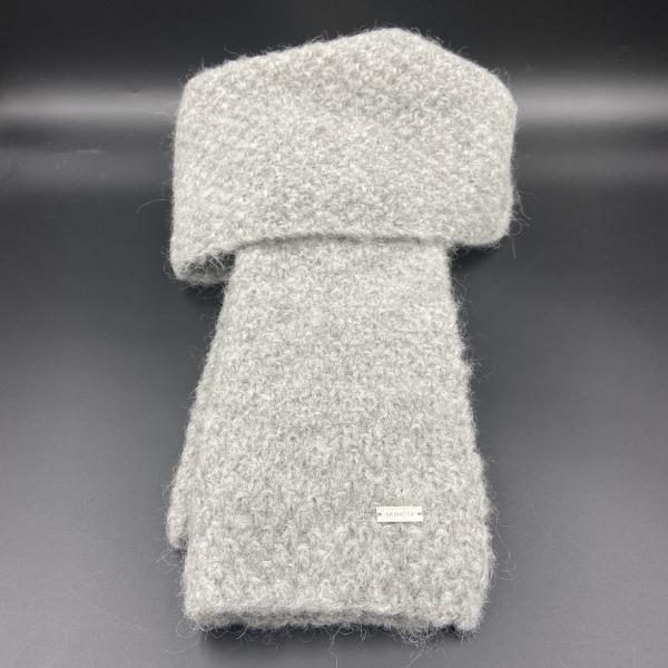 Bufanda de alpaca gris ARMATTA 1