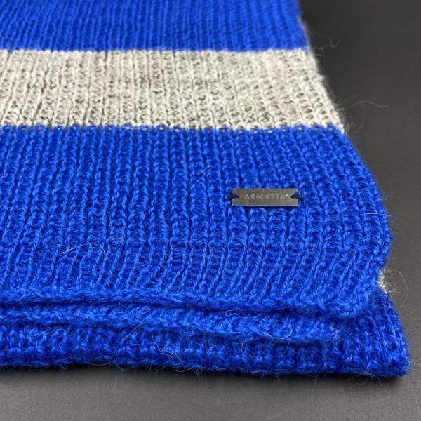 Bufanda de alpaca rayas azules ARMATTA 3