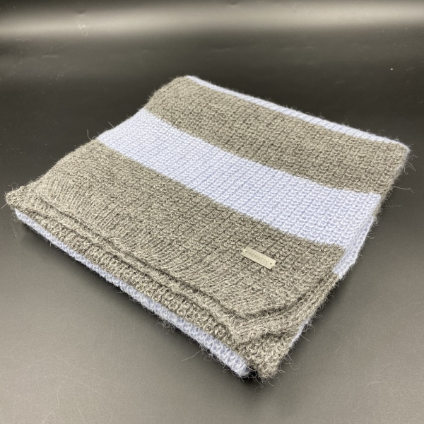 Bufanda de alpaca rayas grises ARMATTA 3