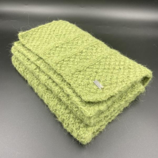 Bufanda de alpaca verde ARMATTA 3