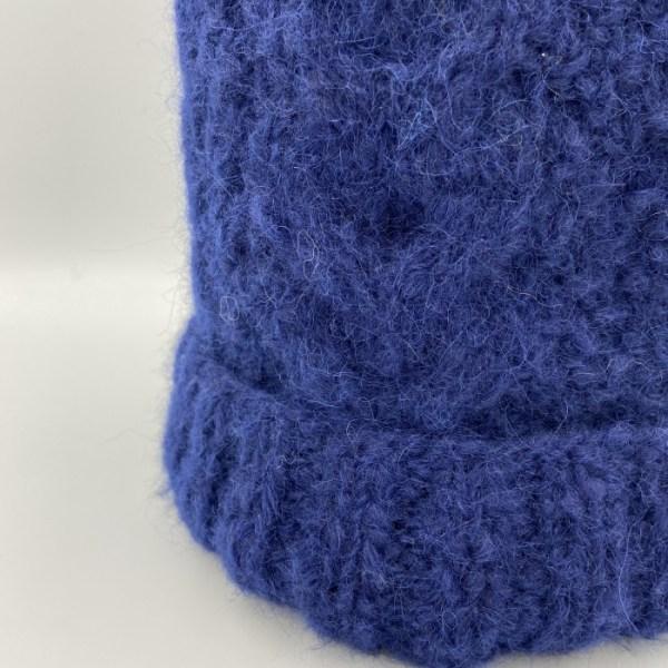 Gorro alpaca trenza azul ARMATTA 5
