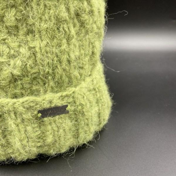 Gorro alpaca trenza verde ARMATTA 4