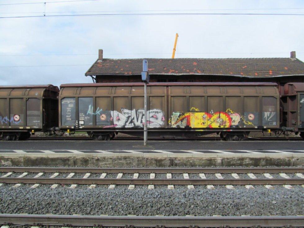 Graffiti on a Model Railroad https://commons.wikimedia.org/wiki/File:2464_247-0,_1,_Borken,_Schwalm-Eder-Kreis.jpg