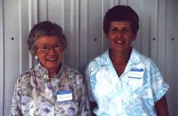 """Angie """"Aunt Pete"""" Armbruster and her daughter Lou Anne Roades."""