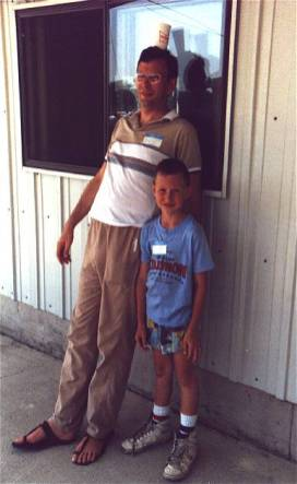 Jim Cruse and son Dylan (already wearing size 13's).