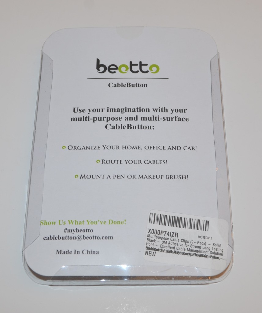 The back of the CableButton package.