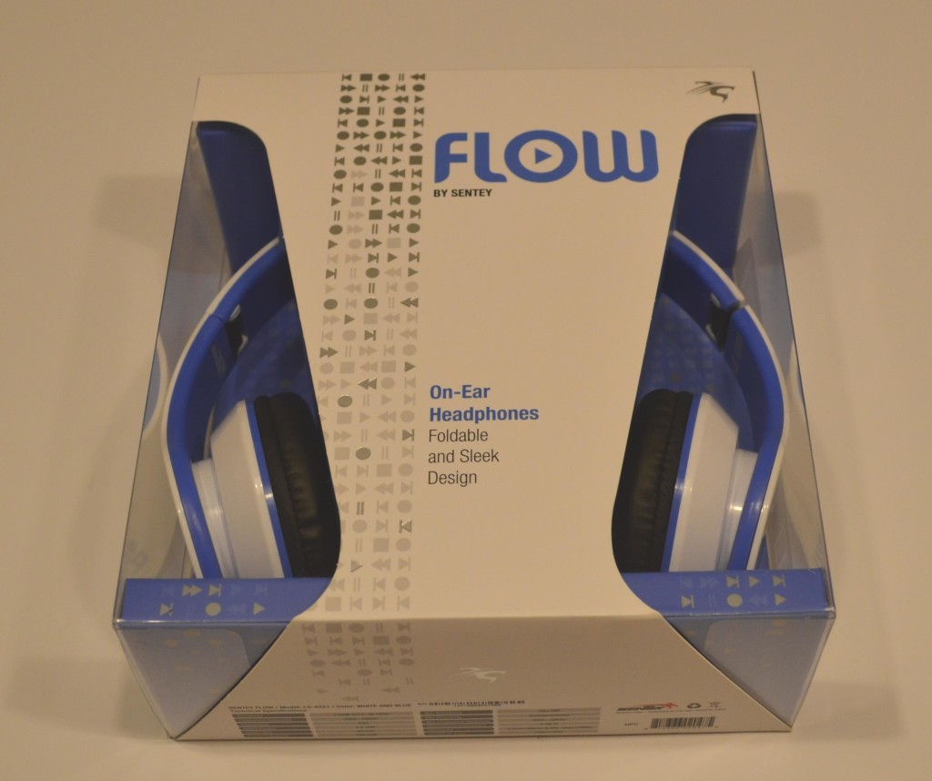 The Sentey Flow Headphones are nicely packaged.