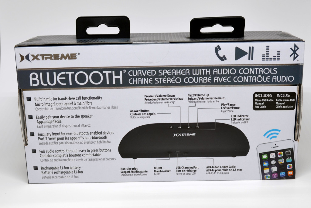 The back of the box for the speaker.