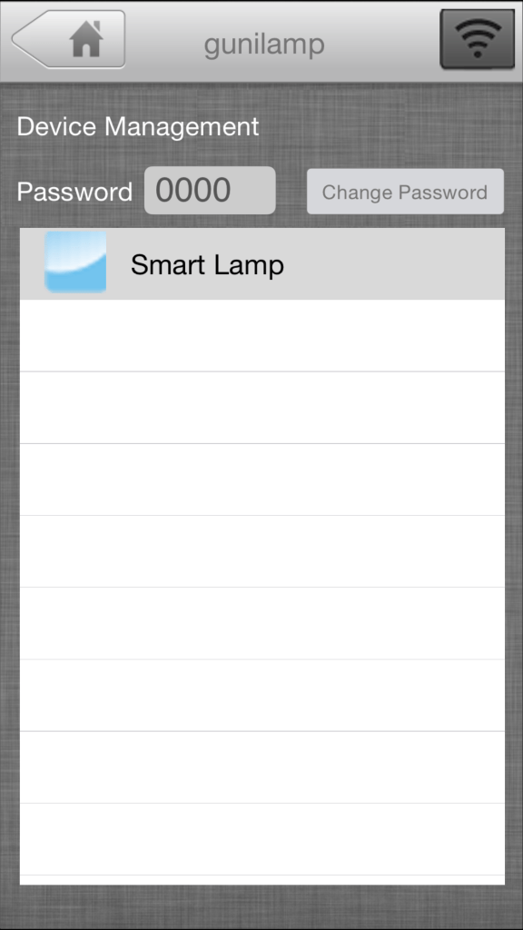 You need to select the bulb in the app every time you want to change its settings.
