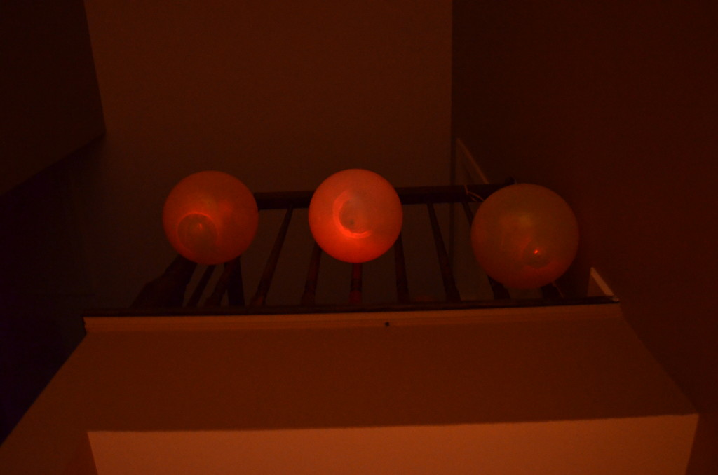 My digital camera did its best to capture the subtle glow of the balloons as the evening wore on.