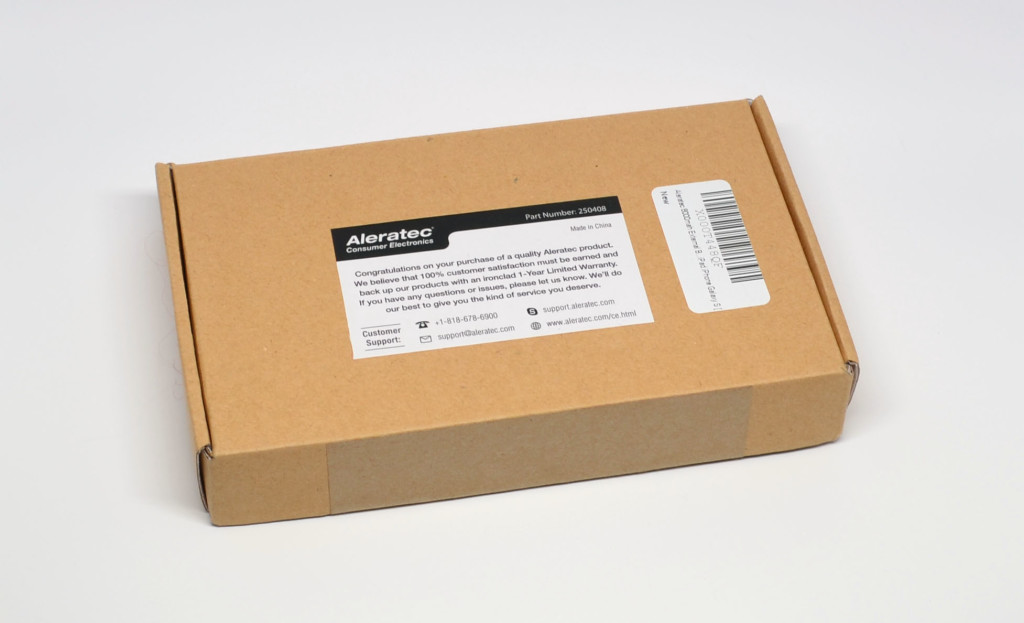 The packaging for the Aleratec 8000mah External Battery Charger.