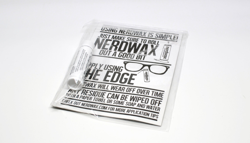 The Nerdwax packaging.