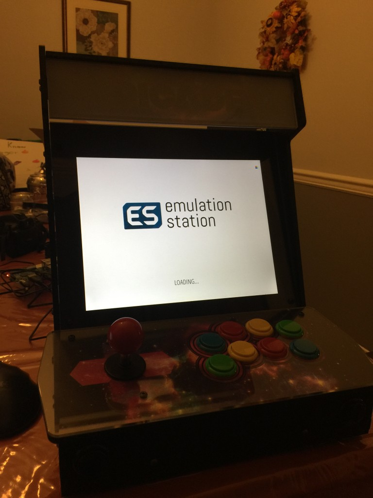 EmulationStation is the front end.