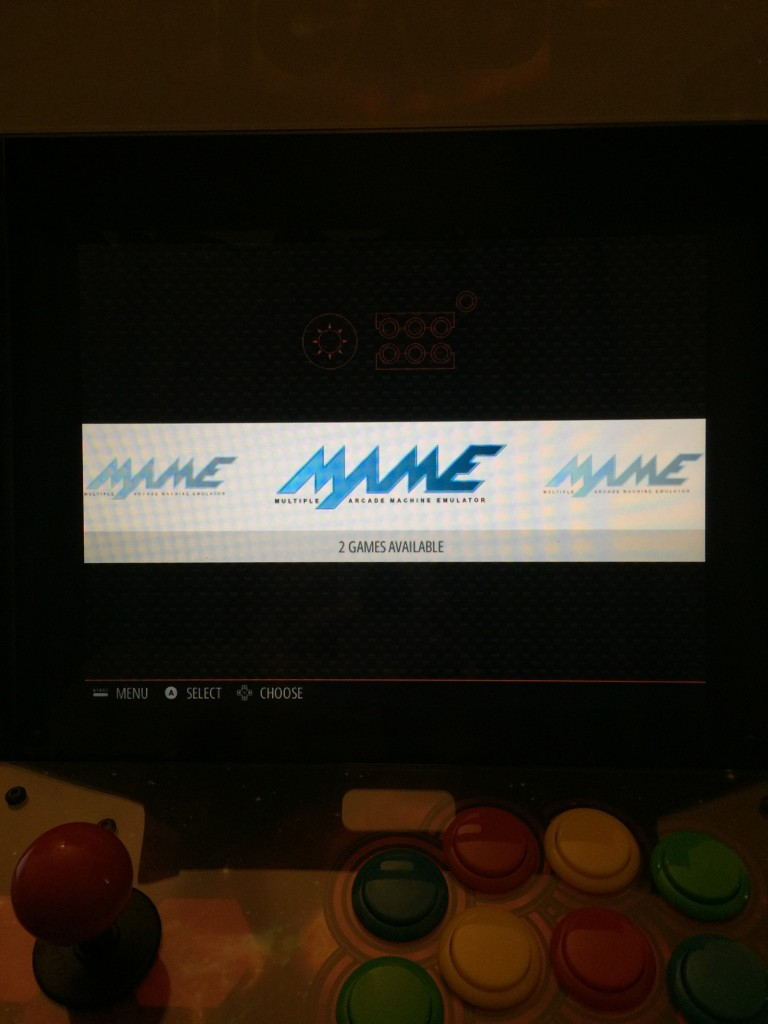 There are three MAME options.
