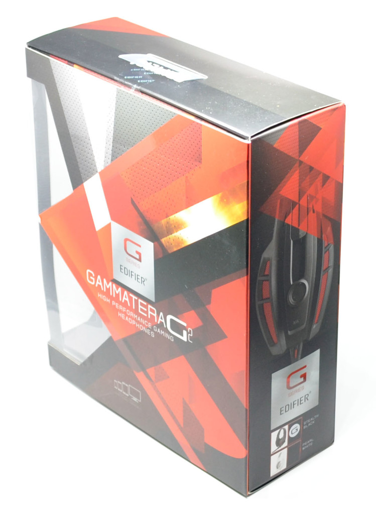 The box for the Edifier Gammatera G2 Hi-fi Professional Gaming Headset.