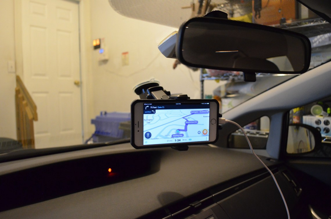 How my phone is mounted in my car.