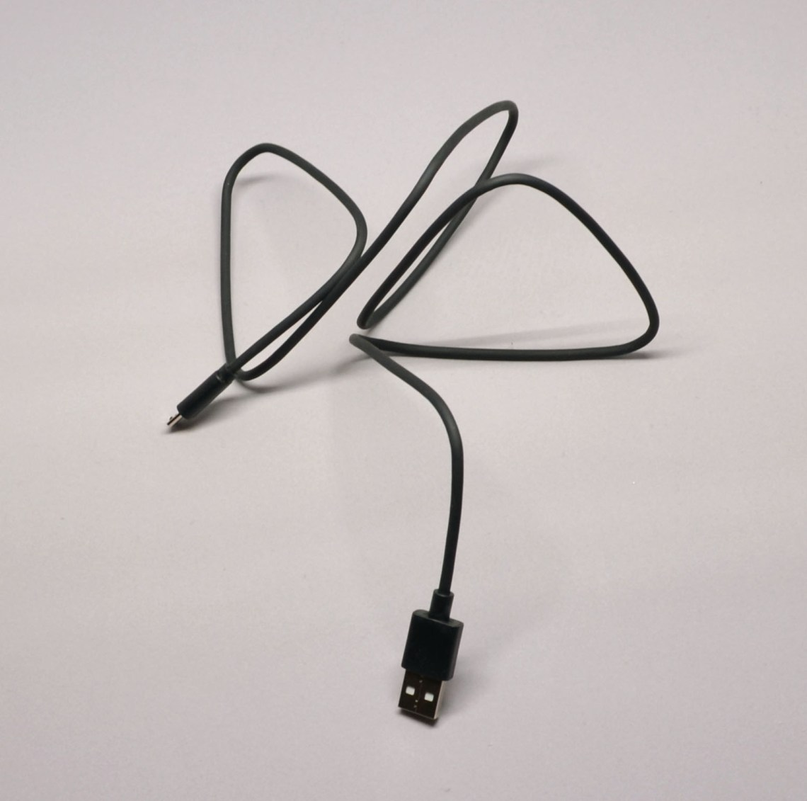 A cable freed from the package.