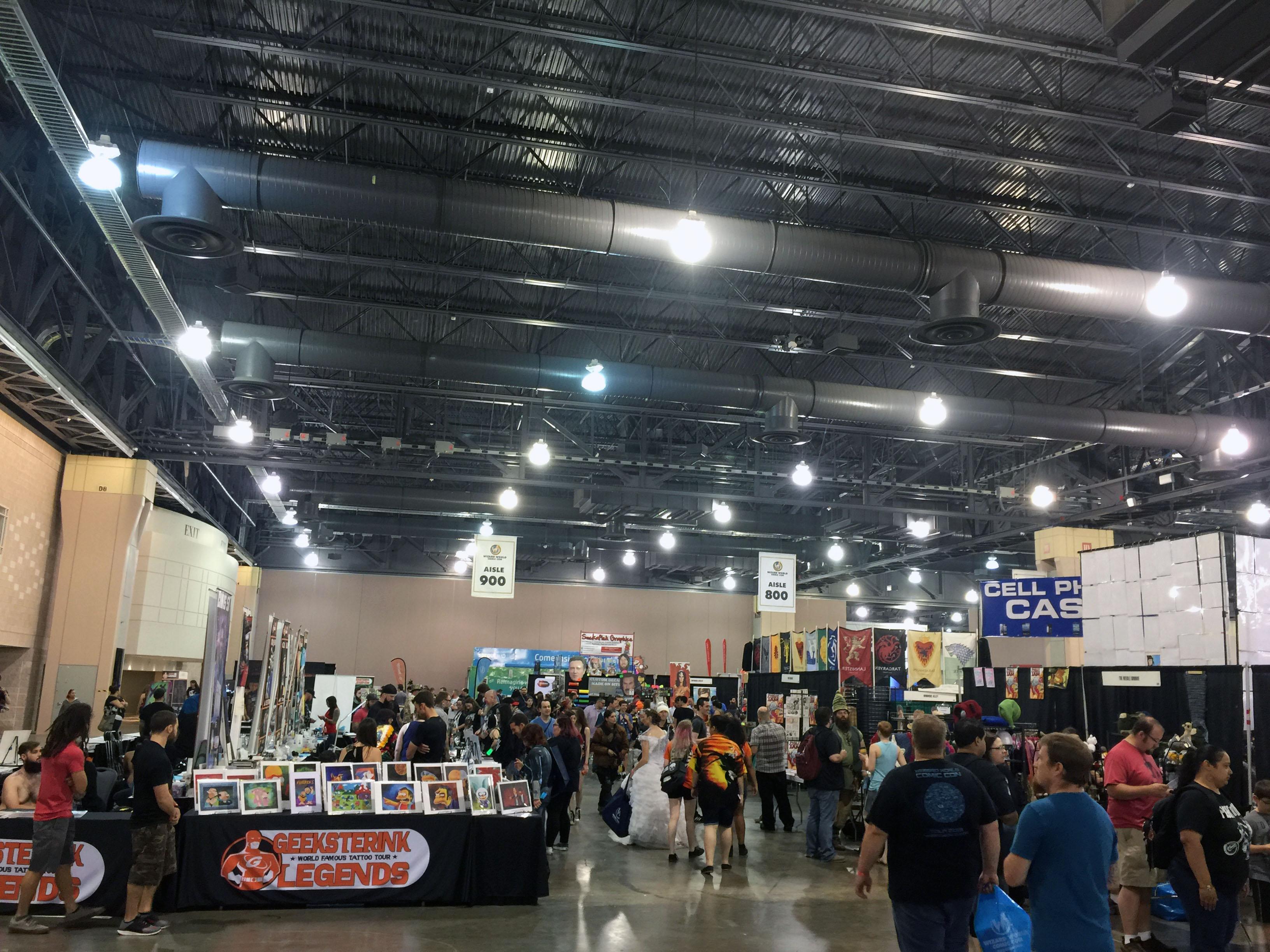 The main show floor was impressive.