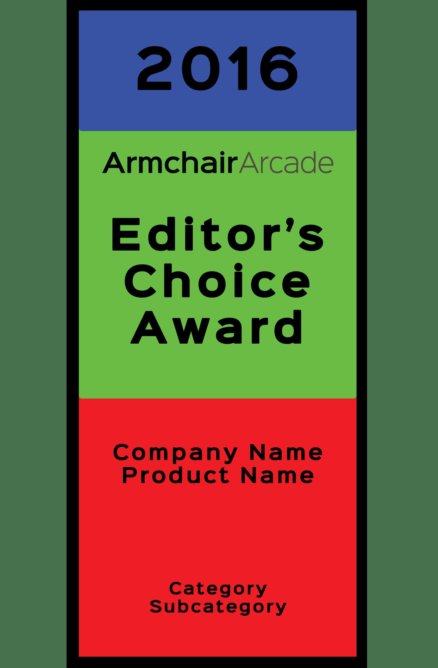 Armchair Arcade Editor's Choice Award Template - 2016