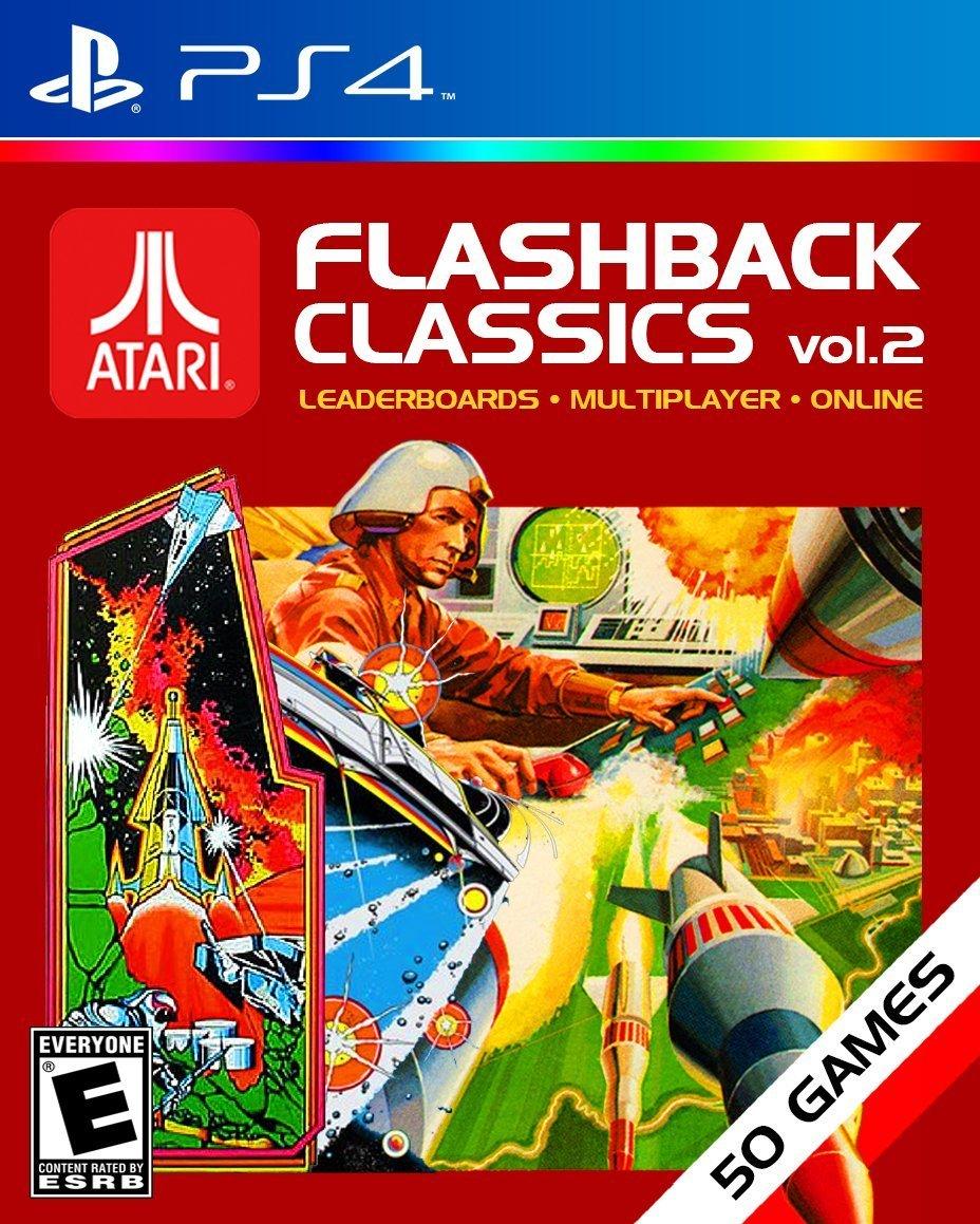 Preliminary box art for Flashback Classics Volume 2 (PS4)