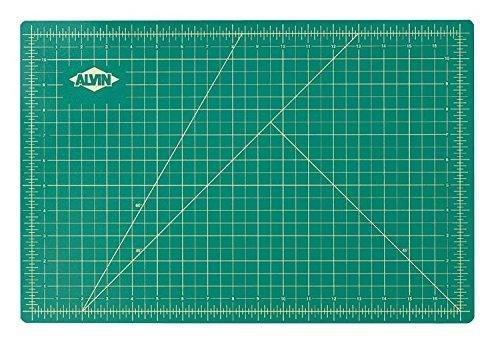 Alvin Professional Self Healing Cutting Mat GREEN/BLACK (12x18)