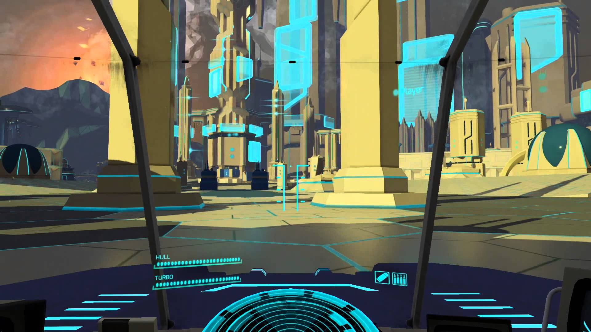 A scene from Battlezone.