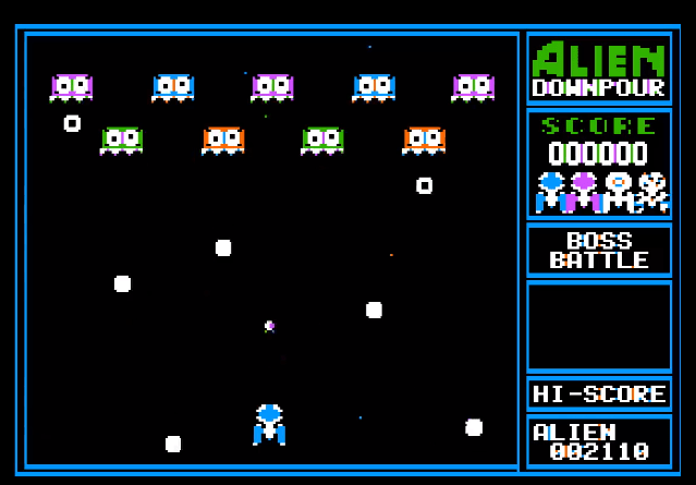 Alien Downpour for the Apple II nearing release! - Armchair Arcade