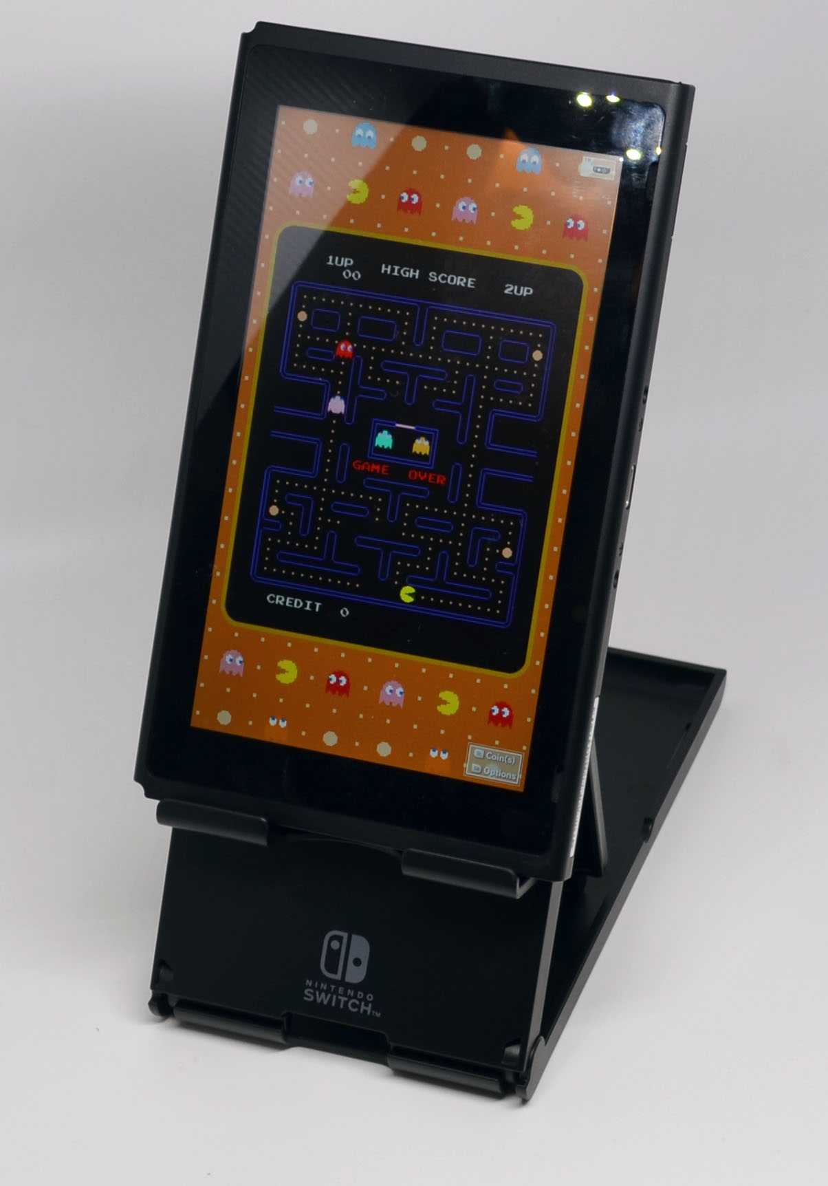Vertical placement, the way these classic arcade games were meant to be played.
