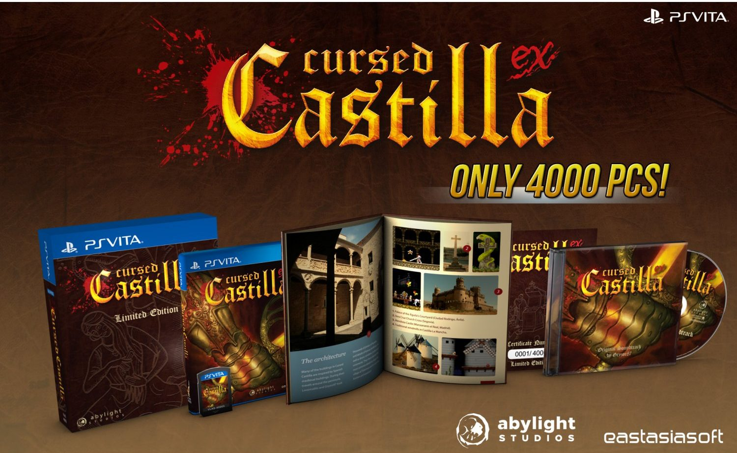 Exclusive Cursed Castilla EX Limited Edition for PlayStation Vita (PS Vita) available soon!