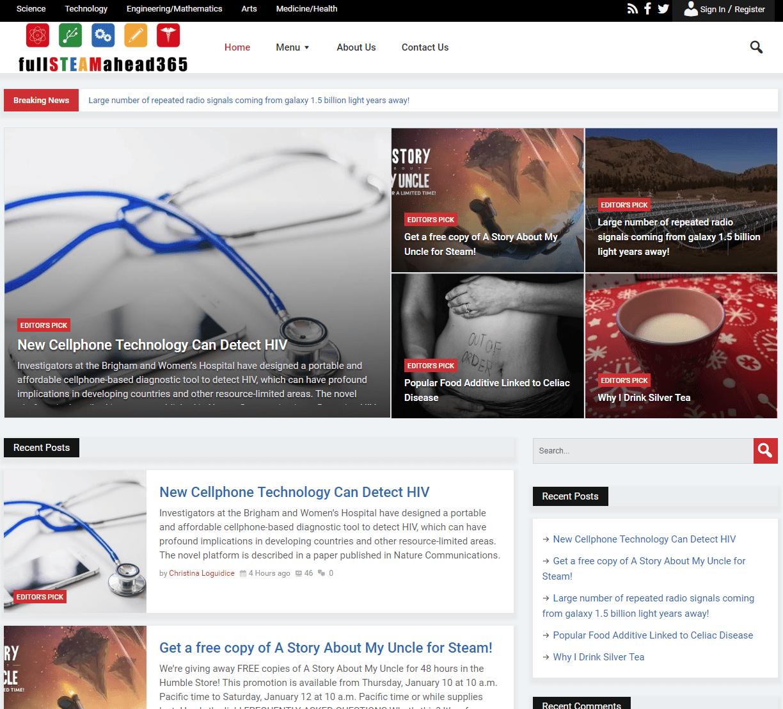 A snapshot of fullSTEAMahead365.com