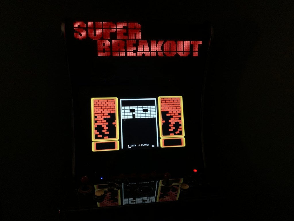 Super Breakout running on the Legends Ultimate