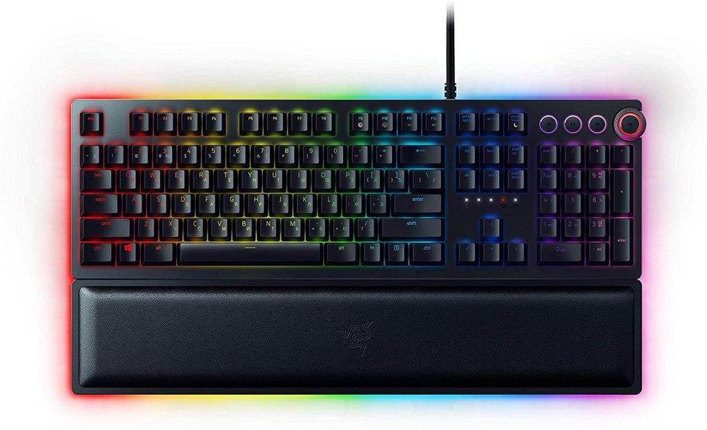 The Razer Huntsman Elite keyboard is a personal favorite.
