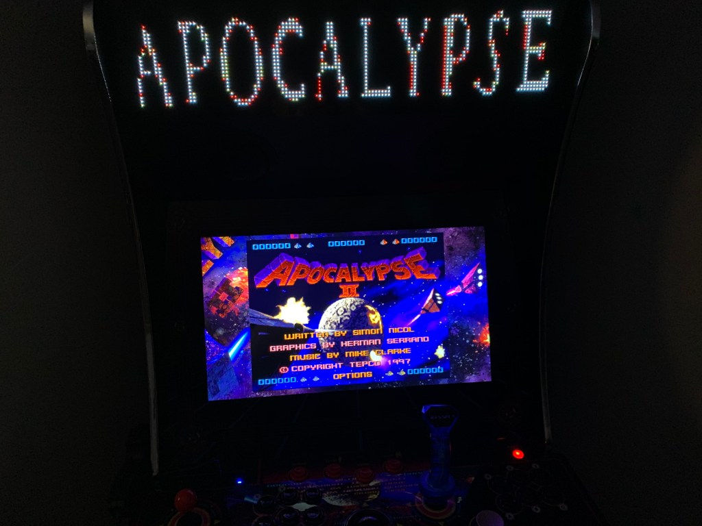 Apocalypse II running on the Legends Ultimate with Pixelcade.