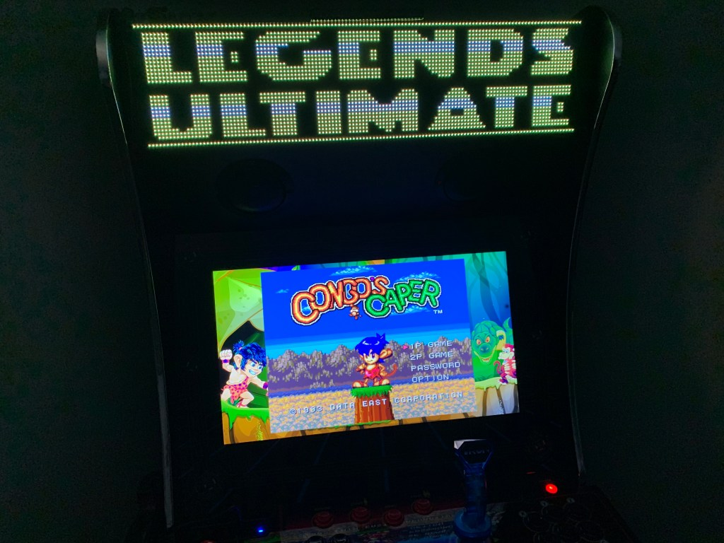 Congo's Caper running on the Legends Ultimate with Pixelcade.