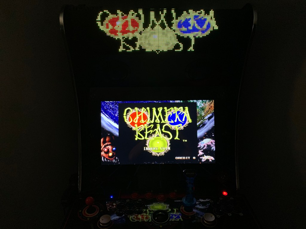 Chimera Beast running on the Legends Ultimate with Pixelcade via the PixelcadeX app