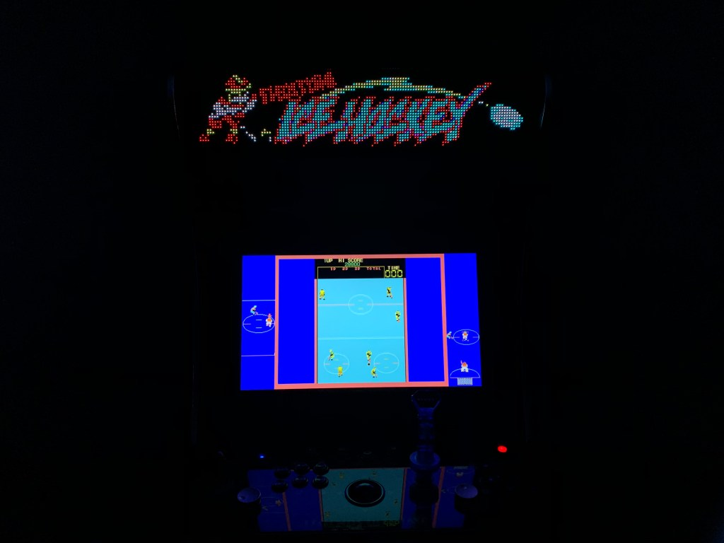 Fighting Ice Hockey running on the Legends Ultimate with Pixelcade