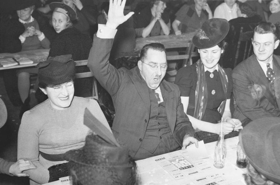 A bingo winner in Montreal, Quebec in 1941.By Conrad Poirier - This file has been scanned and uploaded to Wikimedia Commons with the gracious permission and cooperation of Bibliothèque et Archives nationales du Québec and Wikimedia Canadaunder the Poirier Project., Public Domain, https://commons.wikimedia.org/w/index.php?curid=34546802